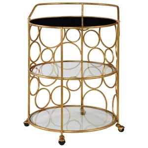Uttermost Accent Furniture  Xandra Gold Serving Cart
