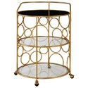 Uttermost Accent Furniture  Xandra Gold Serving Cart - Item Number: 24684