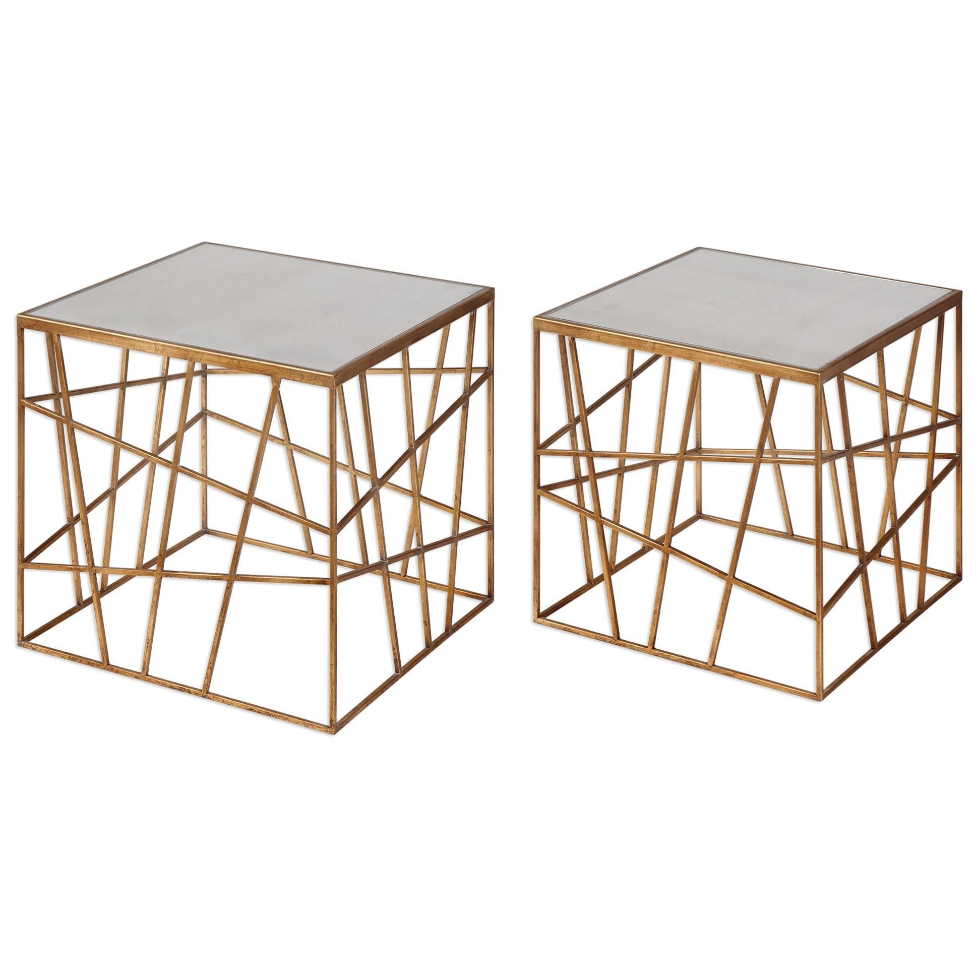 Uttermost Accent Furniture  Karkin Gold Accent Tables (Set of 2) - Item Number: 24687
