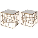 Uttermost Accent Furniture  Karkin Gold Accent Tables (Set of 2) - Item Number: 24687
