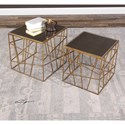 Uttermost Accent Furniture  Karkin Gold Accent Tables (Set of 2)