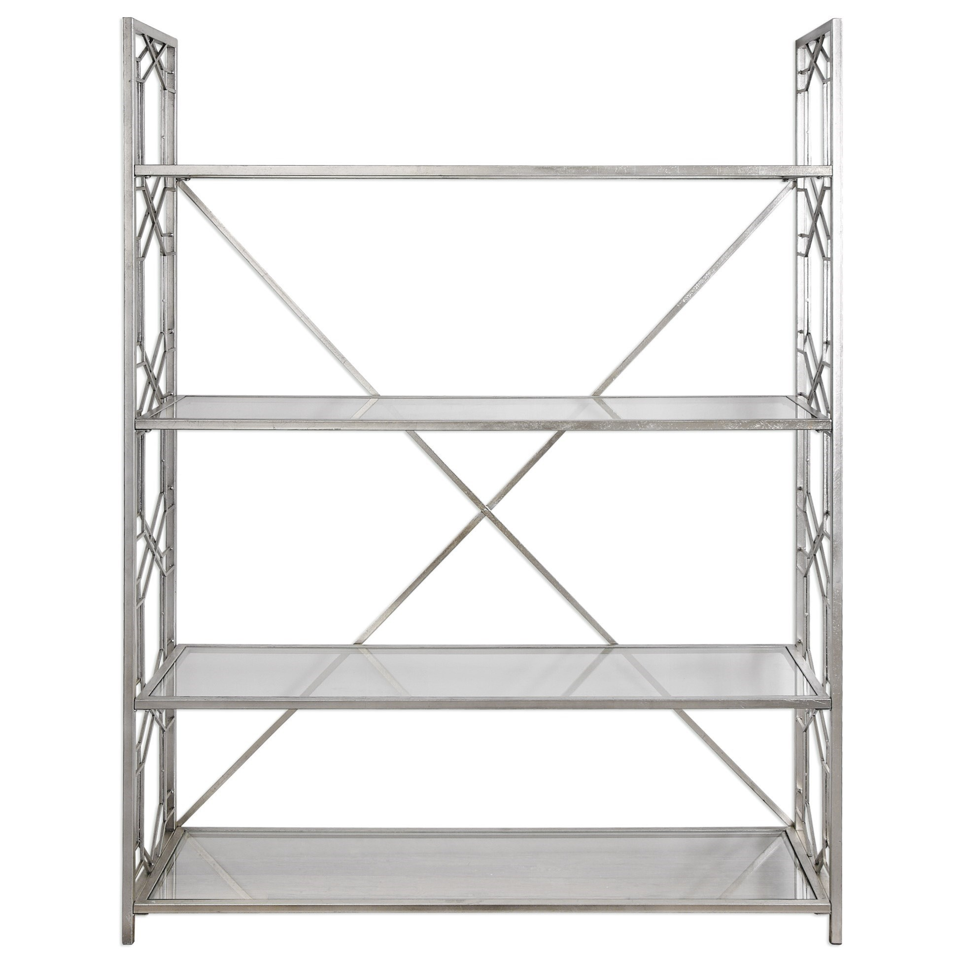 Uttermost Accent Furniture  Kennis Silver Etagere - Item Number: 24700