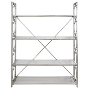 Uttermost Accent Furniture  Kennis Silver Etagere