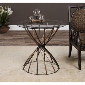 Uttermost Accent Furniture  Yael Antiqued Bronze Accent Table