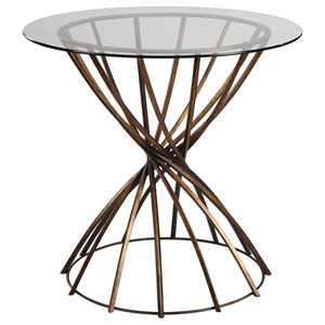 Uttermost Accent Furniture  Yael Antiqued Bronze Accent Table