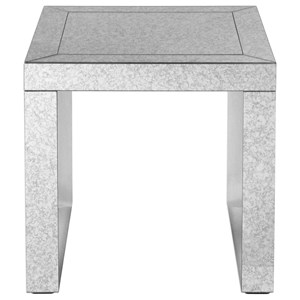 Uttermost Accent Furniture Nora Mirrored Accent Table