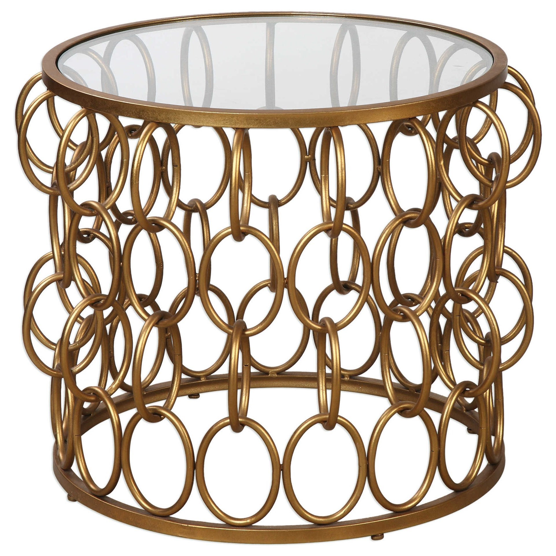 Uttermost Accent Furniture Dipali Gold Accent Table - Item Number: 24710