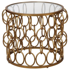 Uttermost Accent Furniture Dipali Gold Accent Table