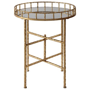 Uttermost Accent Furniture Tilly Bright Gold Accent Table