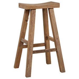 Uttermost Accent Furniture Holt Elm Wood Bar Stool