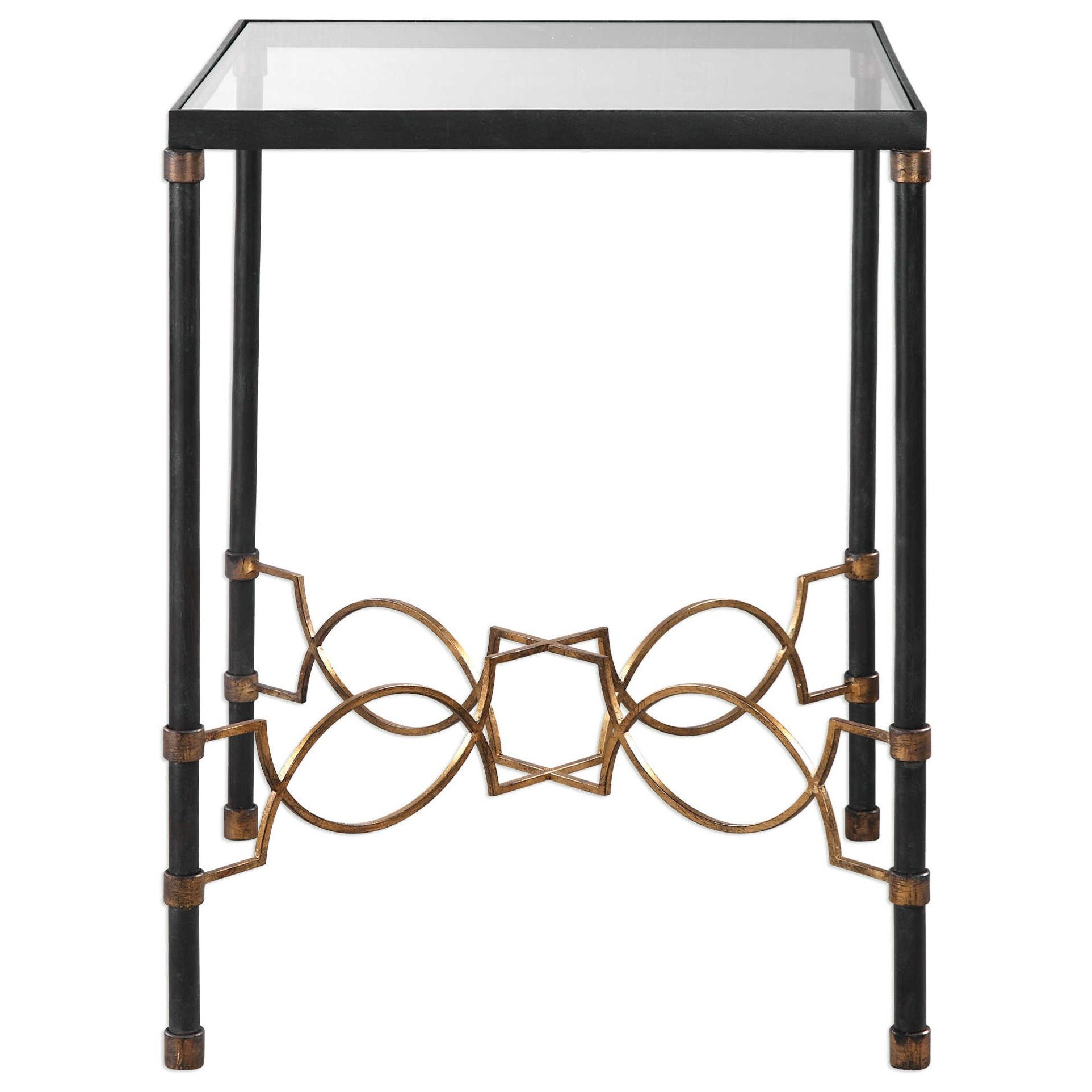 Uttermost Accent Furniture Josie Industrial Black Accent Table - Item Number: 24718