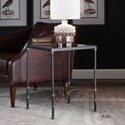 Uttermost Accent Furniture Josie Industrial Black Accent Table