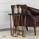 Uttermost Accent Furniture Agnes Black Granite Accent Table