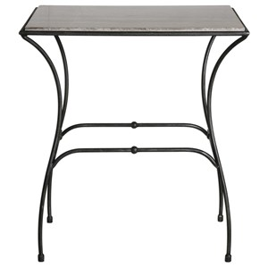 Uttermost Accent Furniture Tamaya Marble Top Accent Table