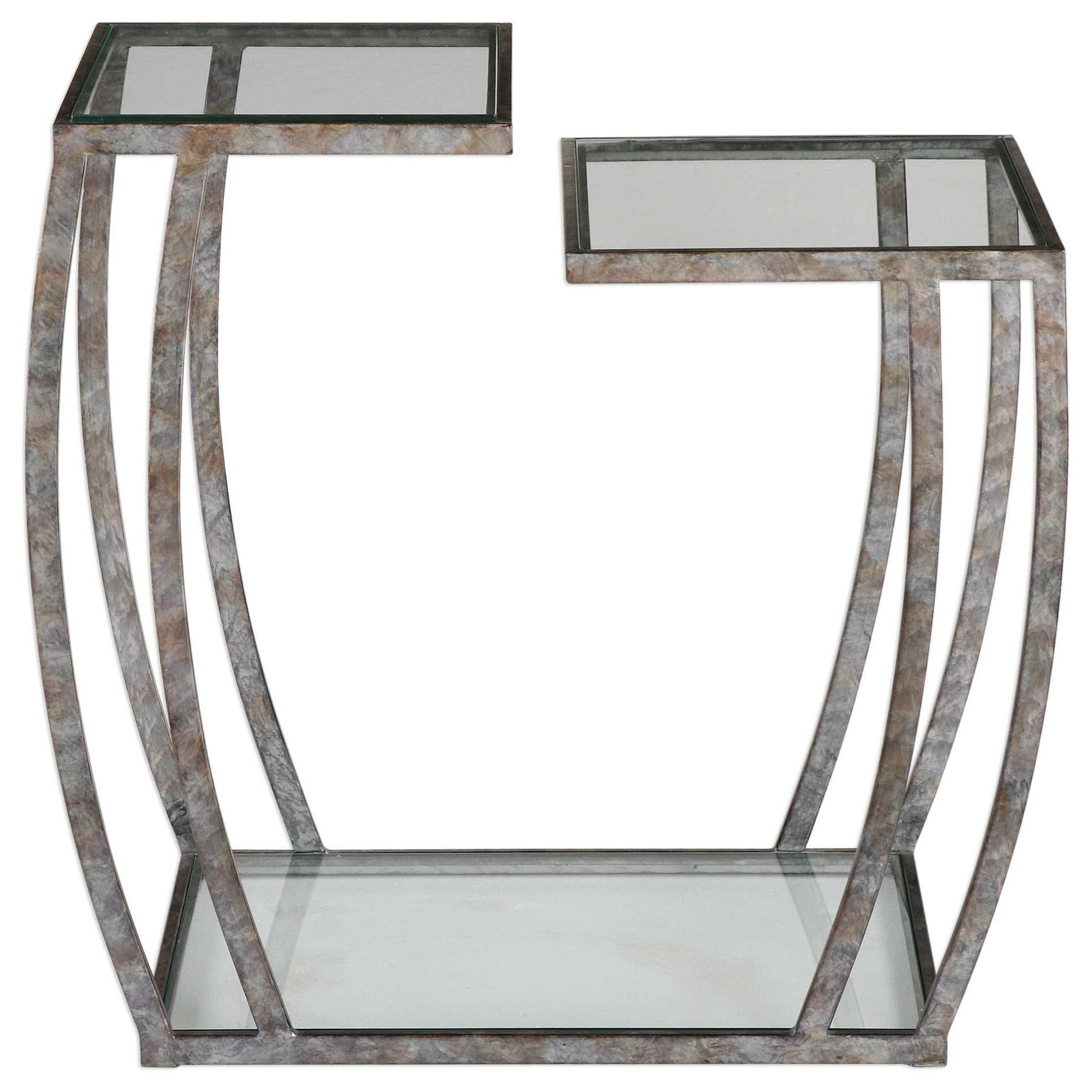 Uttermost Accent Furniture Teeranie Burnished Silver Accent Table - Item Number: 24722