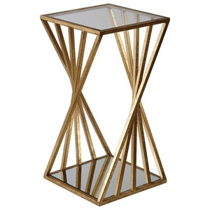 uttermost accent furniture janina gold dimensional accent table