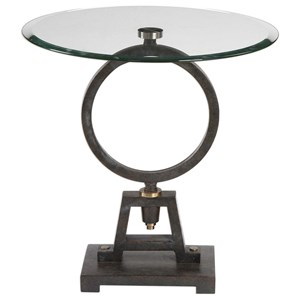 Uttermost Accent Furniture Adan Glass Accent Table