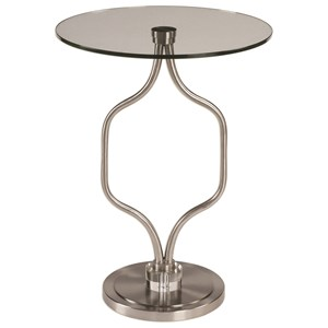 Uttermost Accent Furniture Kizma Brushed Nickel Accent Table