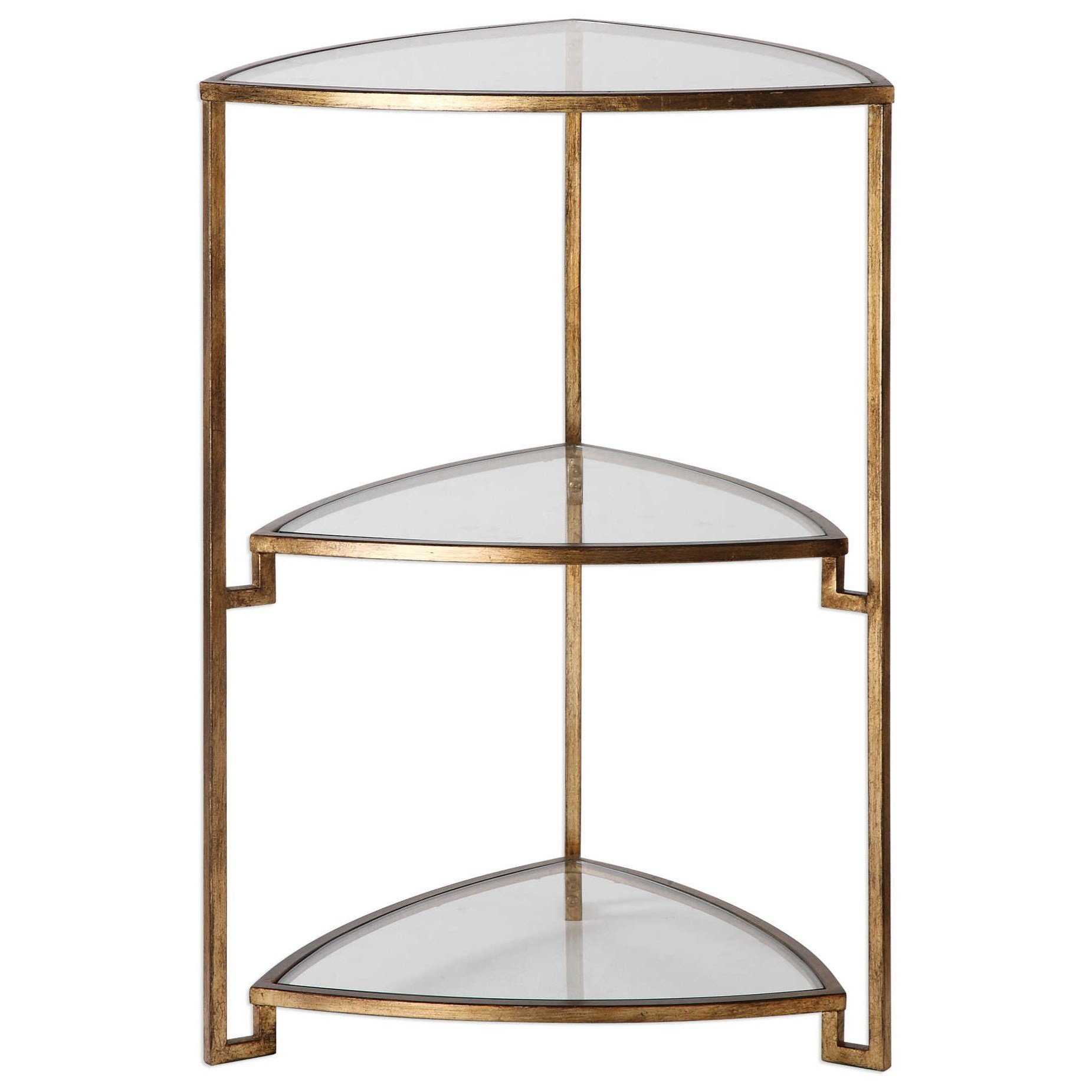 Nastasia Gold Leaf Accent Table