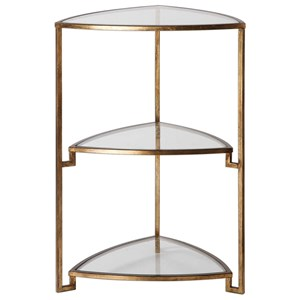Uttermost Accent Furniture Nastasia Gold Leaf Accent Table