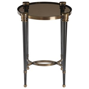 Uttermost Accent Furniture Thora Brushed Black Accent Table