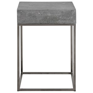 Uttermost Accent Furniture Jude Concrete Accent Table