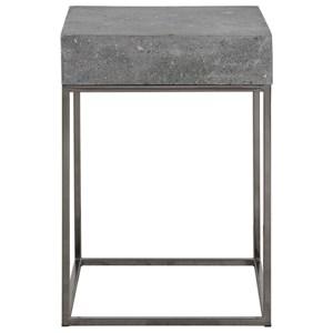 Uttermost Accent Furniture Jude Concrete Accent Table