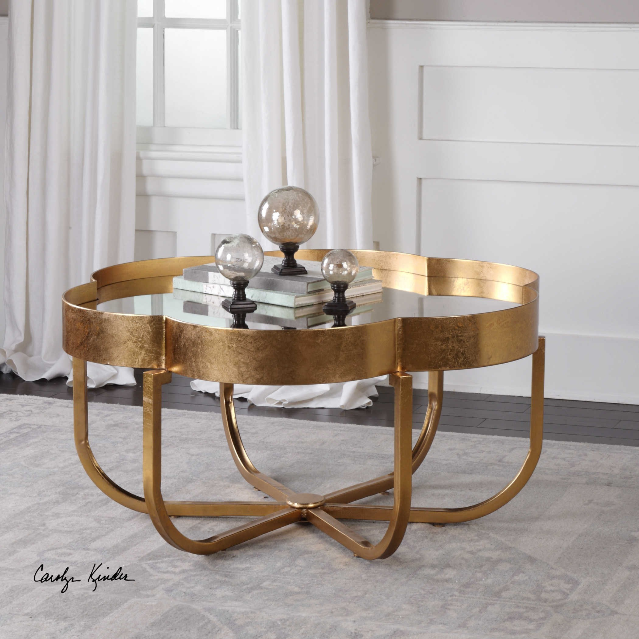 Lpd Furniture Accent White Coffee Table: Uttermost Accent Furniture Cydney Gold Coffee Table