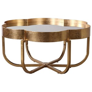 Uttermost Accent Furniture Cydney Gold Coffee Table
