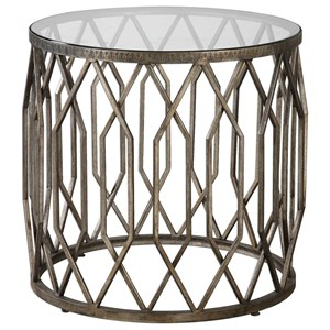 Uttermost Accent Furniture Algoma Glass Accent Table