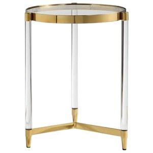 Uttermost Accent Furniture Kellen Glass Accent Table
