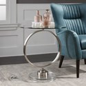 Uttermost Accent Furniture Dixon Brushed Nickel Accent Table