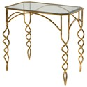 Uttermost Accent Furniture Lora Gold End Table - Item Number: 24758