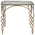 Uttermost Accent Furniture Lora Gold End Table