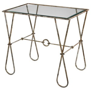 Uttermost Accent Furniture Primrose Burnished Silver Accent Table