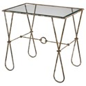 Uttermost Accent Furniture Primrose Burnished Silver Accent Table - Item Number: 24759