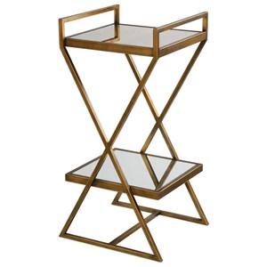 Uttermost Accent Furniture Elling Golden Bronze Accent Table