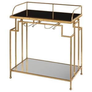 Uttermost Accent Furniture Burgess Gold Bar Cart