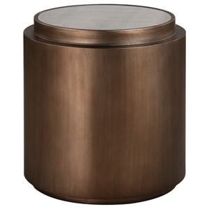 Uttermost Accent Furniture Boden Antique Copper Accent Table