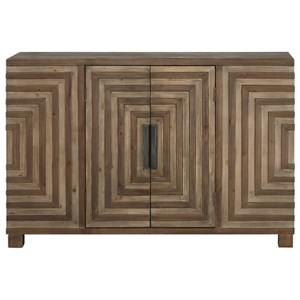 Uttermost Accent Furniture Layton Geometric Console Cabinet
