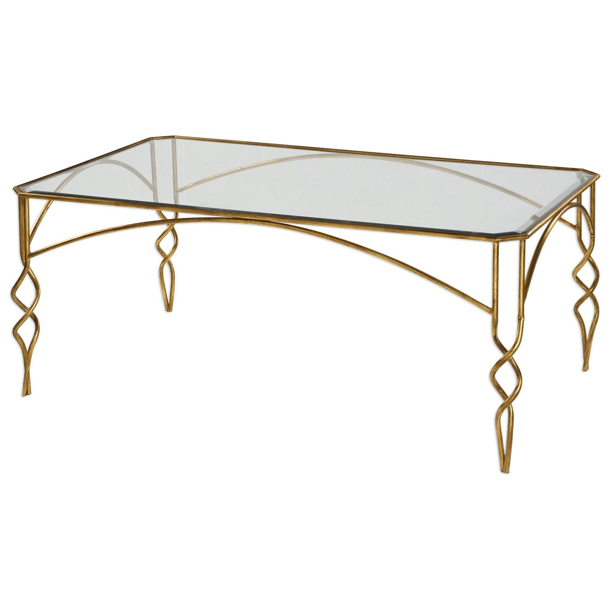 Lora Gold Coffee Table