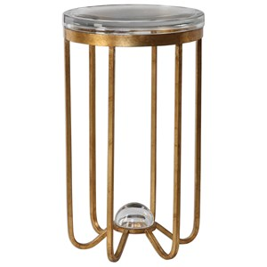 Uttermost Accent Furniture Allura Gold Accent Table