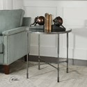 Uttermost Accent Furniture Vande Aged Steel Accent Table
