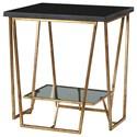 Uttermost Accent Furniture Agnes Black Granite End Table - Item Number: 24785