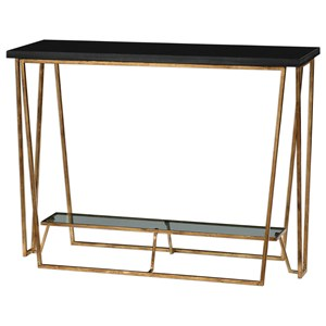 Uttermost Accent Furniture Agnes Black Granite Console Table