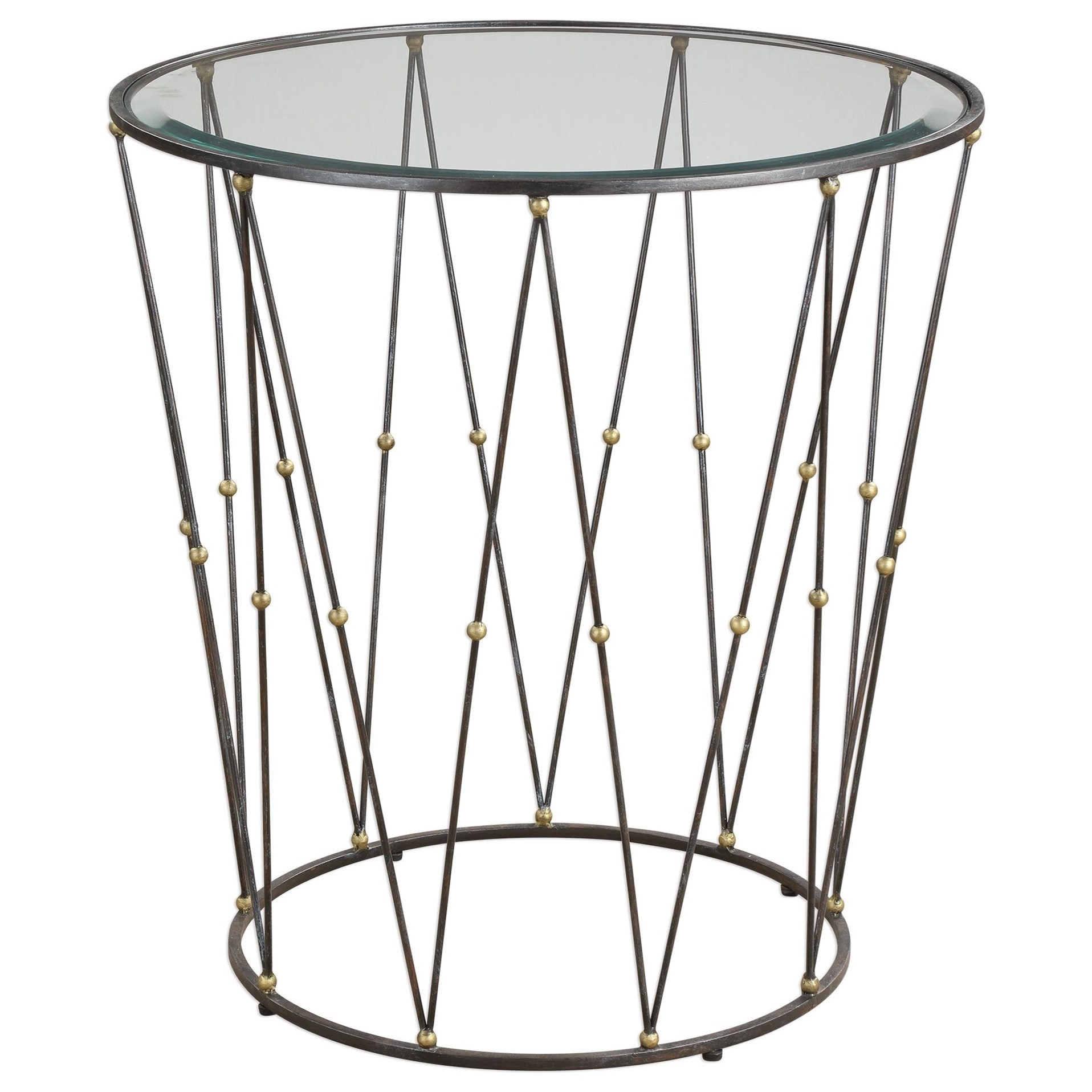 Hewett Round Caged Accent Table