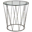Uttermost Accent Furniture Hewett Round Caged Accent Table - Item Number: 24793