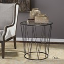 Uttermost Accent Furniture Hewett Round Caged Accent Table