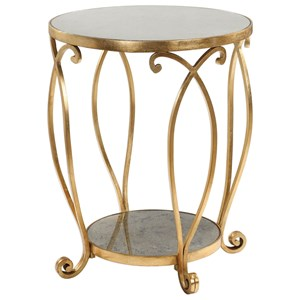 Uttermost Accent Furniture Martella Round Gold Accent Table