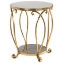 Uttermost Accent Furniture Martella Round Gold Accent Table - Item Number: 24794